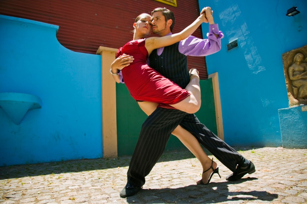 Tango dance in Buenos Aires Argentina