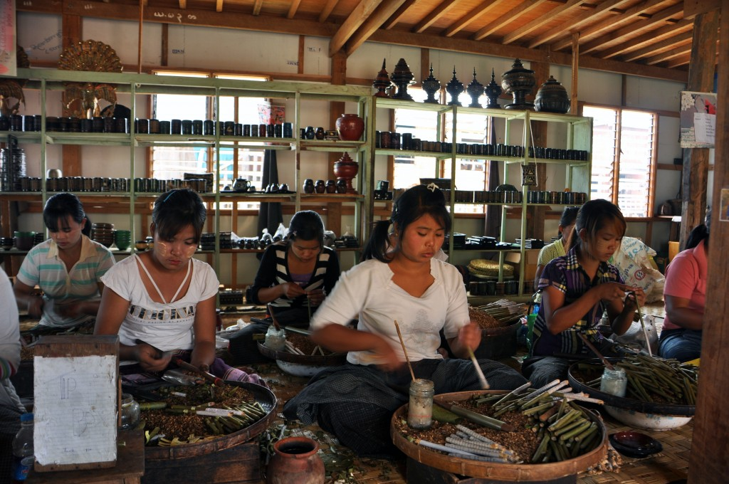 Cigar Factory Inle lake Myanmar