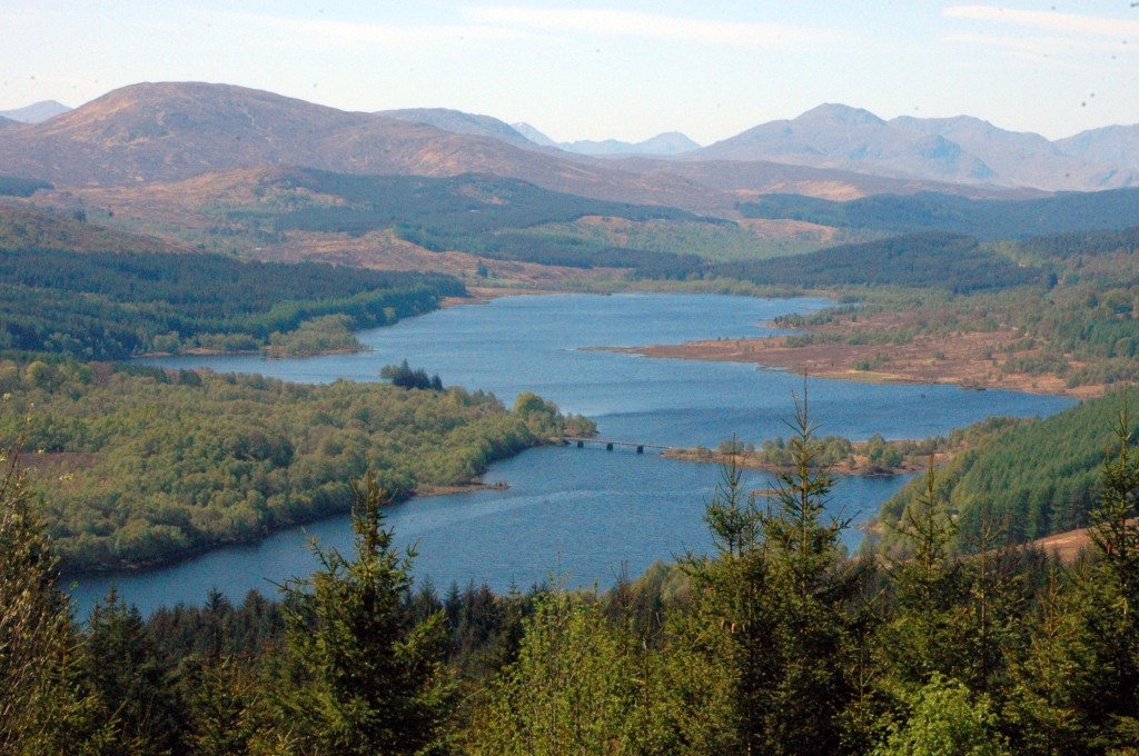 We pulled over when we saw this sight! Loch Garry is simply beautiful