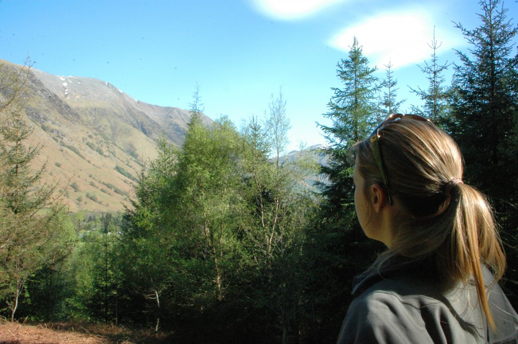 Gazing up at Ben Nevis in Fort William