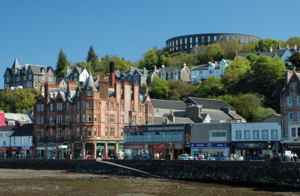 The town of Oban Scotland