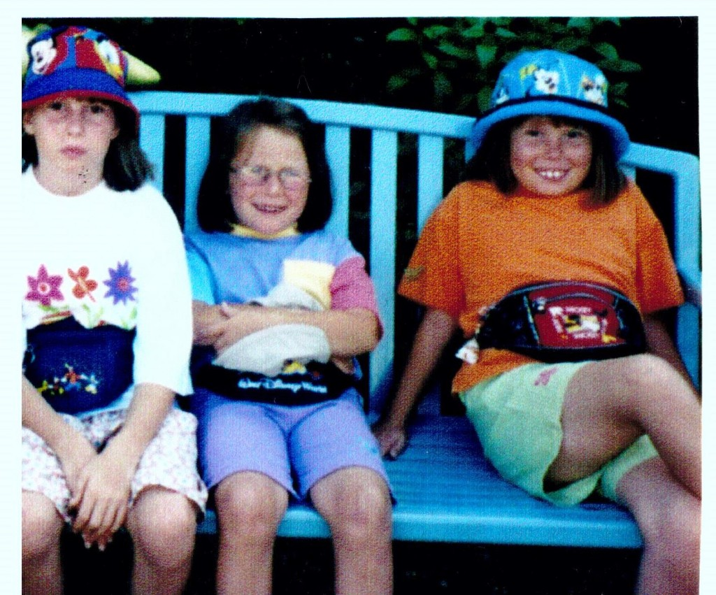 This is me and my sisters in 1999 our first trip to Disney!