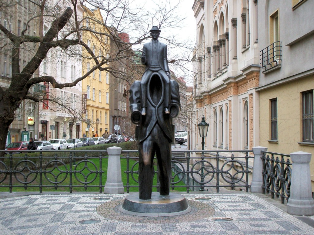 Franz Kafka Statue Prague Czech Republic